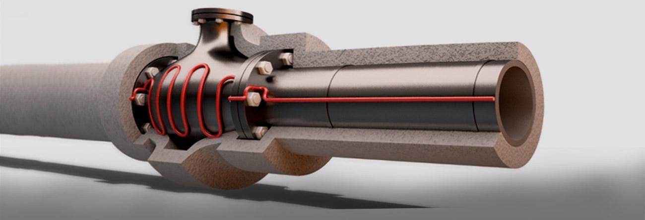 Греющий кабель для газопровода