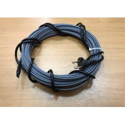 Греющий кабель для канализационных труб, септиков, дренажей, 40-50 мм диаметром, готовый комплект 16 м