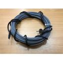 Греющий кабель для канализационных труб, септиков, дренажей, 40-50 мм диаметром, готовый комплект 25 м