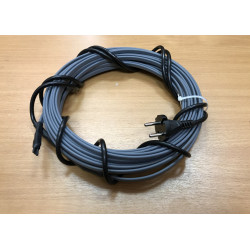 Греющий кабель для канализационных труб, септиков, дренажей, 40-50 мм диаметром, готовый комплект 47 м