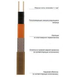 Саморегулирующаяся электрическая нагревательная лента 25ФСЛе2-СТ