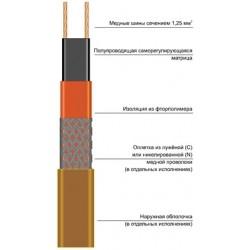 Саморегулирующаяся электрическая нагревательная лента 15BTC2-BP
